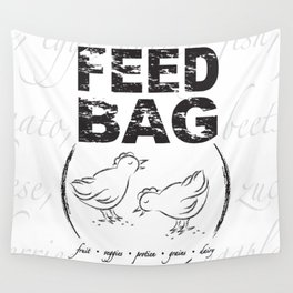 FEED BAG/Black & White Wall Tapestry