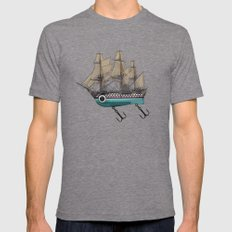 To catch a sea monster LARGE Mens Fitted Tee Tri-Grey