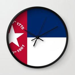 North Carolina Secession Flag Wall Clock