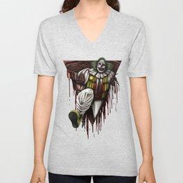 Halloween Horror Clown Scary Monster Costume Gift Unisex V-Neck