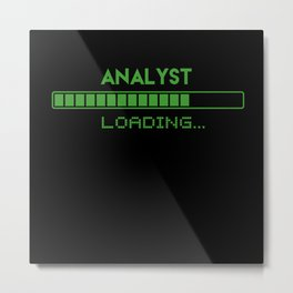 Analyst Loading Metal Print