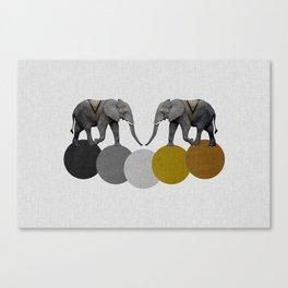 Tribal Elephants Canvas Print