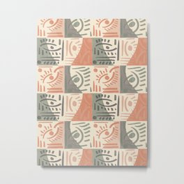 Tribal Tiles #society6 #pattern Metal Print