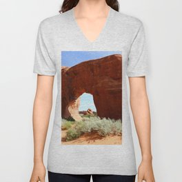 At The End Of The Trail - Pine Tree Arch Unisex V-Neck