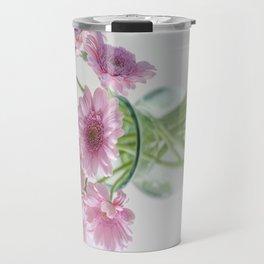 Pink Gerberas In A Vase  Travel Mug