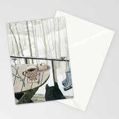 Winter Breakfast on the Porch Stationery Cards