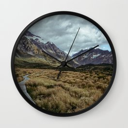 Hooker Valley, Mt Cook National Park Wall Clock