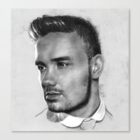 liam payne Canvas Prints featuring Liam Payne drawing by Adele_F