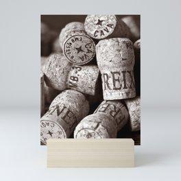 Cork of Champagne - Brown Duplex Mini Art Print