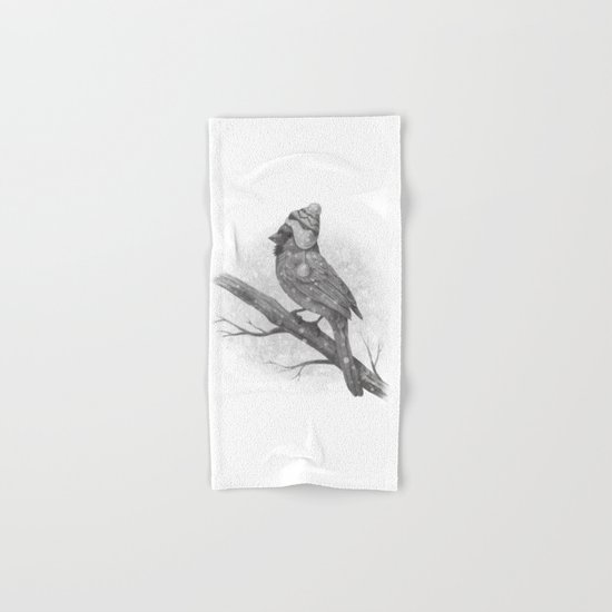 First Snow (monochromatic) Hand & Bath Towel