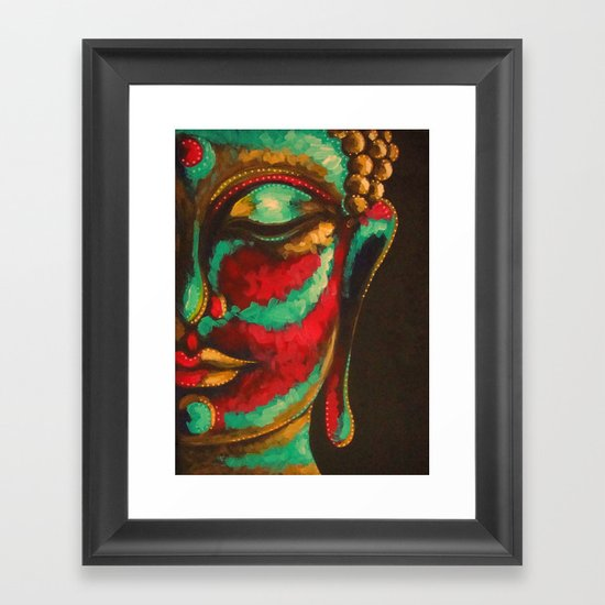 COLORED BUDDHA Framed Art Print