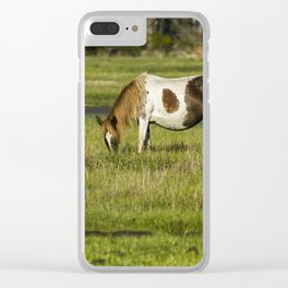 Pinto Mare with the Copper Colored Mane No. 1 - Chincoteague Ponies Assateague Horses Clear iPhone Case