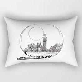 London in a glass ball . artwork Rectangular Pillow