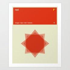 Color Print - Red Art Print