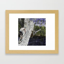 Climbing to Nirvana Framed Art Print