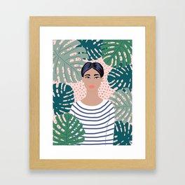 The Tropical Girl Framed Art Print