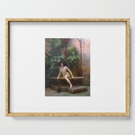 Truth Coming Out Of Her Well To Shame Mankind Jean-Leon Gerome Serving Tray
