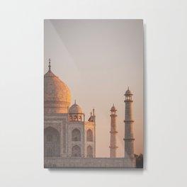 Taj Mahal At Sunset Metal Print