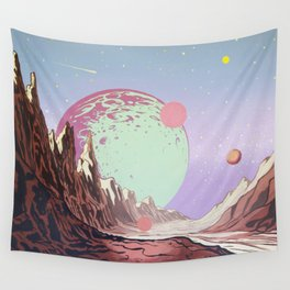 Green Moon Wall Tapestry