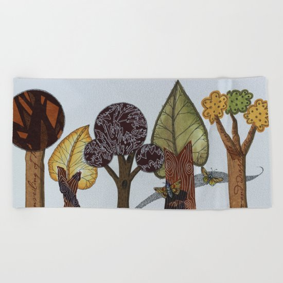 Butterflies Romance Beach Towel