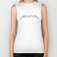 helvetica Biker Tanks featuring Helvetica! by Ferrence