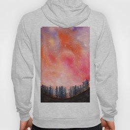 Sunset Landscape watercolor Hoody