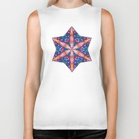 sacred geometry Biker Tanks featuring Sacred Geometry StarFlake Mandala by Jam.