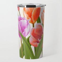 Colorful Flower Bouqet Painting Travel Mug
