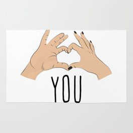 I love you fingers sign Rug