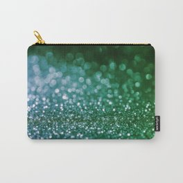 Aqua Glitter effect- Sparkling print in green and blue Carry-All Pouch