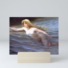 "Luis Ricardo Falero ""Sea nymph or Nymphe"" Mini Art Print"