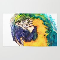 parrot Area & Throw Rugs featuring Parrot by jbjart