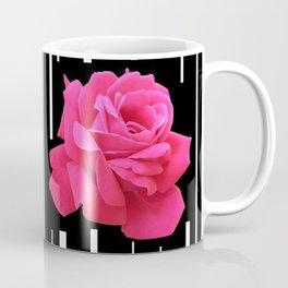 MODERN ABSTRACT PINK ROSES WHITE-BLACK ART Coffee Mug