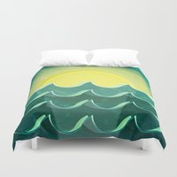 notebook Duvet Covers featuring Sun and sea by Katherine Paulin