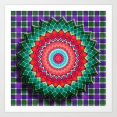 Plaid Flower Art Print