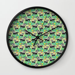 The Skunk Couples Wall Clock