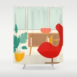 Inside mid century modern 313 Shower Curtain
