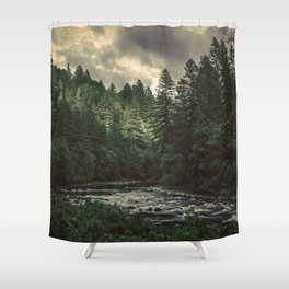 Pacific Northwest River - Nature Photography Shower Curtain
