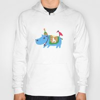 hippo Hoodies featuring hippo by sosie&gogo