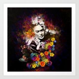 The colors of Frida Art Print