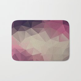 Polygon pattern . Triangles with a texture craquelure . Bath Mat
