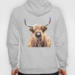 Highland Cow Portrait Hoody