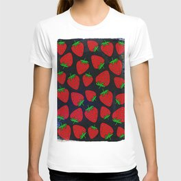 Strawberry pattern T-shirt