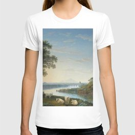 Capriccio View of the River Volturno with Monte Epomeo beyond by Jakob Philipp Hackert. T-shirt
