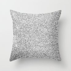 Metallic (Silver) Throw Pillow