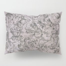 Vintage Constellations & Astrological Signs | Beetroot Paper Pillow Sham