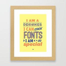 Font Stacker Framed Art Print