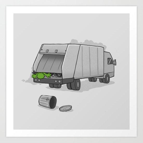 Accident on Sesame St.  Art Print