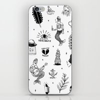 tattoos iPhone & iPod Skins featuring Flash Tattoos by Hamburger Hands