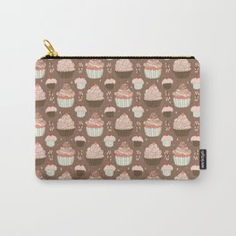 Elegant Cupcakes Food Vector Pattern Seamless Carry-All Pouch